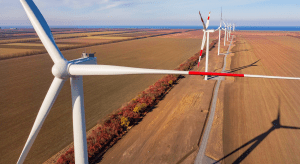 A view of turbines installed at Enel's Azovskaya wind power project in Rostov, Russia, Credit: Enel Russia website