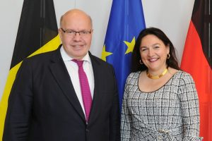 Minister Peter Altmaier and Belgium's Environment and Energy Minister Marie Christine Marghem, Credit: Germany's Federal Ministry of Economic Affairs & Energy