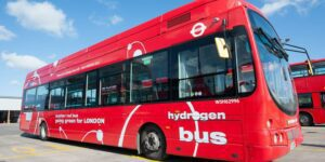 Photograph of a hydrogen-fuelled double-decker bus recently commissioned into service by the London Assembly. Credit: London Assembly website