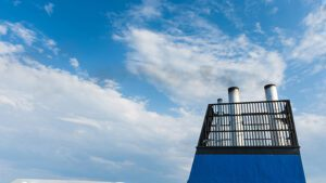 View of a chimney which forms part of Alfa Laval's Marine Exhaust Gas Solution. Credit: Alfa Laval website