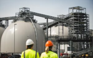 A view of one of Drax's CCS plants. Credit: Drax website